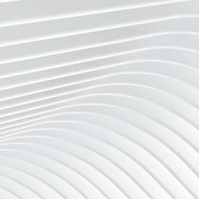 abstract of white curved architectural detail